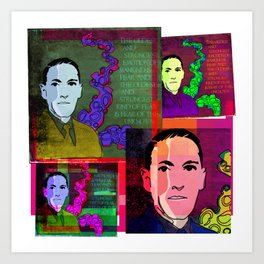 H.P. LOVECRAFT (GOTHIC AUTHOR) COLLAGE Art Print