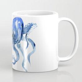 Navy Blue Octopus Artwork Coffee Mug