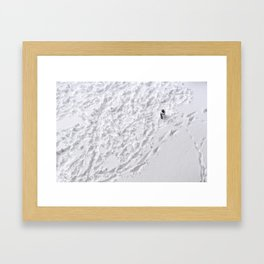 Lonely Snowman Framed Art Print