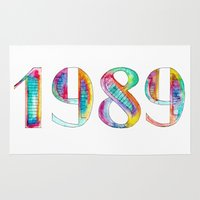 1989 Area & Throw Rugs featuring 1989 by Christina Guo