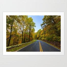 Autumn Road Trip Art Print