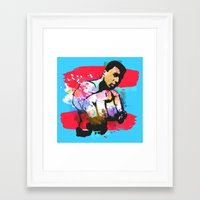 ali Framed Art Prints featuring Ali by BIG Colours