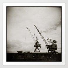 { dancing cranes } Art Print