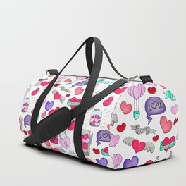 Lovely doodle drawing Valentine's Day gift Duffle Bag