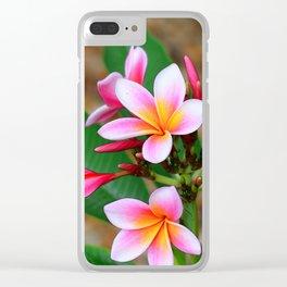 Plumeria Floral Art - Tropical Queen - Sharon Cummings Clear iPhone Case