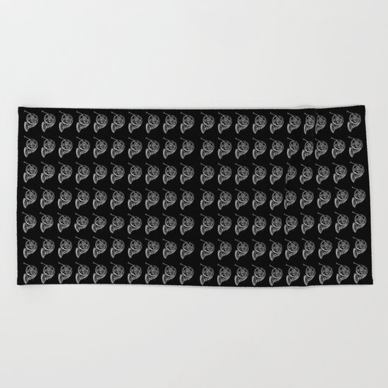 French Horn pattern Beach Towel