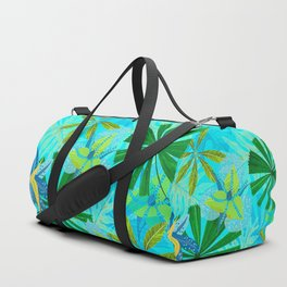 My blue abstract Aloha Tropical Jungle Garden Duffle Bag