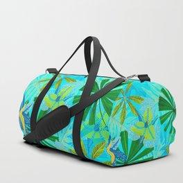 My blue abstract Aloha Tropical Jungle Garden Duffle Bag