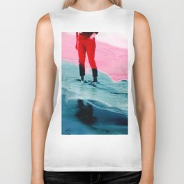 A girl and the sea Biker Tank
