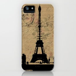EIFFEL TOWER FRENCH COLLAGE iPhone Case