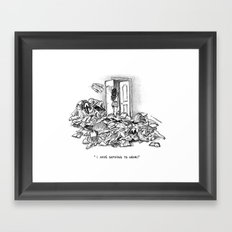 I have nothing to wear Framed Art Print