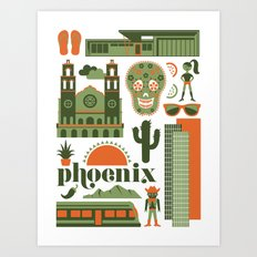 Phoenix in Sage Art Print