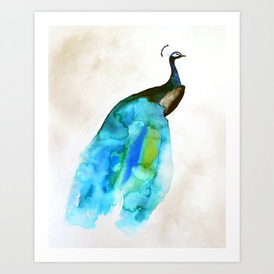Peacock II Art Print
