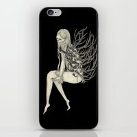 antler iPhone & iPod Skins featuring ANTLER by auntikatar