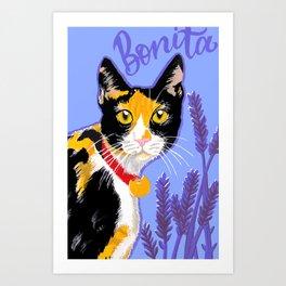 Bonita the cat Art Print
