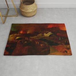 "Hieronymus Bosch (follower) ""Christ's Descent into Hell"" Rug"