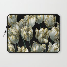 Winter Tulips in Gold. Laptop Sleeve