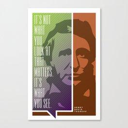 Thoreau – Genius Quotes Canvas Print