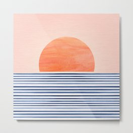 Summer Sunrise - Minimal Abstract Metal Print