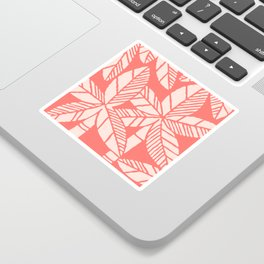 Tropical Palm Tree Composition Coral Sticker