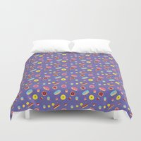 doughnut Duvet Covers featuring Doughnut Pattern by Diana Willett