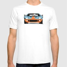 GT40 - Gulf Livery MEDIUM White Mens Fitted Tee
