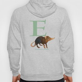 E is for Elephant Shrew: Under Appreciated Animals™, unusual creatures ABC nursery decor for kids Hoody