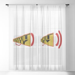 support nyet neutrality Sheer Curtain