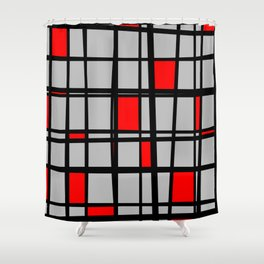 Gridlock - Abstract Shower Curtain
