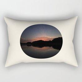 Mountain Sunset Silhouette With Stars Rectangular Pillow