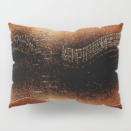 Amber Northern Lights | Abstract Nature Landscape Pillow Sham