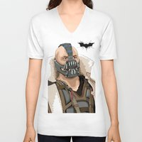 bane V-neck T-shirts featuring Bane by Thomas Moore