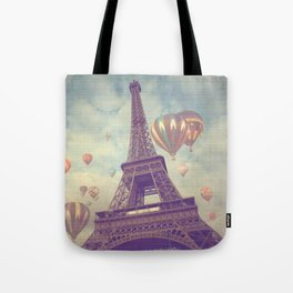Balloons over Paris Tote Bag
