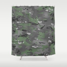 Camouflage: Arctic Green and Grey Shower Curtain