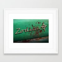zodiac Framed Art Prints featuring Zodiac by Treyson Bird