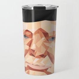 Portrait of Sir Winston Churchill Travel Mug