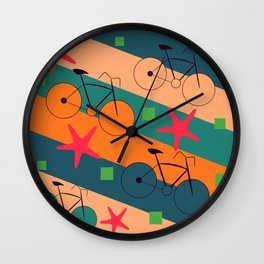 Bike routes Wall Clock