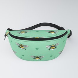Bumblebees on Spearmint Fanny Pack