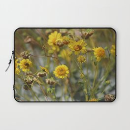 Closeup of Butter Yellow Brittle Bush Coachella Wildlife Preserve Laptop Sleeve
