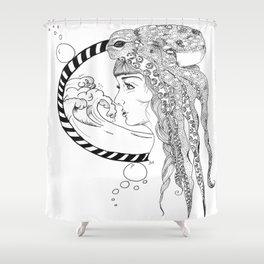 Octopus Woman Shower Curtain