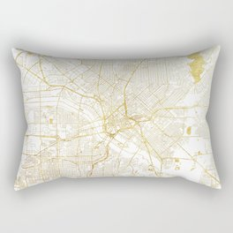 Dallas Map Gold Rectangular Pillow