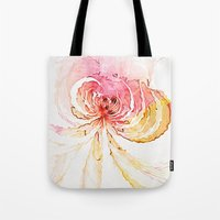 blossom Tote Bags featuring Blossom by Amanda Moore