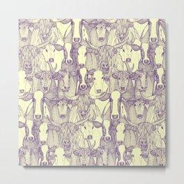 just cattle purple cream Metal Print