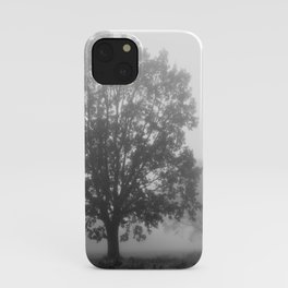 Trees on a Misty Morning iPhone Case