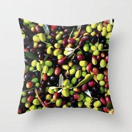 Organic Olives Throw Pillow