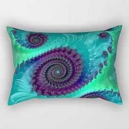 Berry Lime Twist - Fractal Art Rectangular Pillow