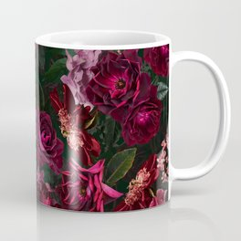 Vintage & Shabby Chic - Night Botanical Flower Roses Garden Coffee Mug