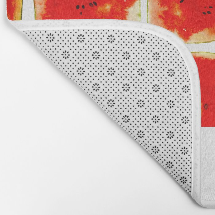 Watermelon cubism Bath Mat