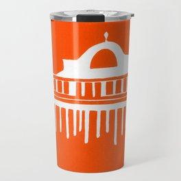 Seaside Pier in Orange Travel Mug