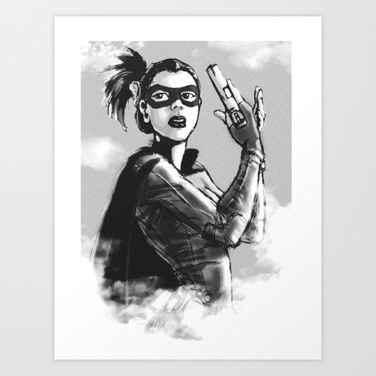 asian hitgirl Art Print